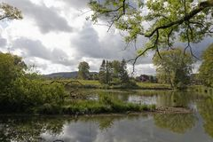 Autumn atmosphere at the Muehlenteich, Germany Stock Photo