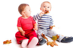 Autumn babies Royalty Free Stock Photo