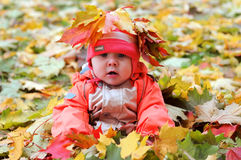 Autumn Baby Royalty Free Stock Photography