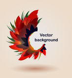 Autumn back a. Autumn floral leaf golden abstract backgound Royalty Free Stock Image