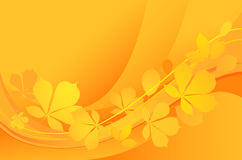 Autumn-background. Abstract background with yellow leaves royalty free illustration