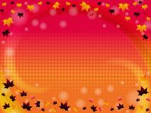 Autumn background. Abstract gradient background with autumn leaves stock illustration