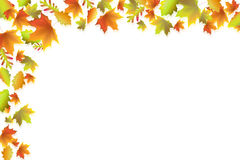 Autumn background. An illustrated background of red,orange and yellow autumn leaves Royalty Free Stock Photography