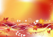 Autumn background. Autumn background with place for your text royalty free illustration