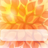 Autumn background. Abstract background with leaves and place for text Royalty Free Stock Photography