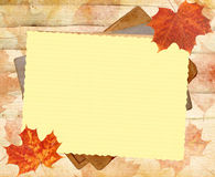 Autumn background. With lined paper royalty free illustration