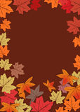 Autumn background 2. Autumn leafs for background vector Royalty Free Stock Photos