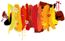 Autumn background. Vector illustration of brushes with autumn colors Stock Photography