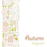Autumn background. Seamless background with autumn ornament Stock Photos