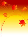Autumn background. Background of autumn leaves and curve Stock Illustration