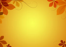 Autumn background. Abstract autumn background with chestnut leaves Royalty Free Stock Photos