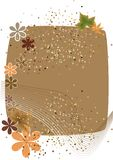 Autumn background. Autumn border for your messages Stock Images