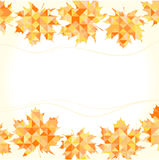 Autumn background with abstract maple leaves. Royalty Free Stock Photos