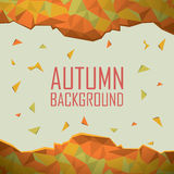 Autumn background with abstract shapes. Foliage Royalty Free Stock Photo