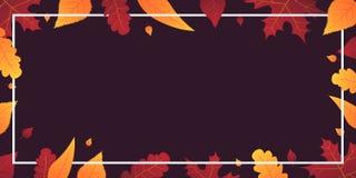 Autumn Background avec des feuilles bannière pour l'affiche de achat de vente ou de promo et de cadre tract ou Web Calibre d'illu Photos libres de droits