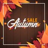 Autumn Background avec des feuilles bannière pour l'affiche de achat de vente ou de promo et de cadre tract ou Web Calibre d'illu Image libre de droits