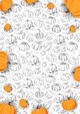 Autumn Background avec le potiron en vente de achat, affiche de promo et tract de cadre, bannière de Web Calibre d'illustration d illustration stock
