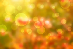 Autumn background with beautiful bokeh Stock Images