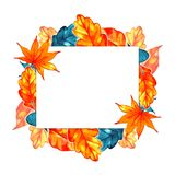 Autumn background border. Abstract artistic fall frame with a place for text Royalty Free Stock Photos
