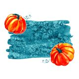 Autumn Background Border Abstract artistiek dalingskader met een plaats voor tekst Stock Afbeeldingen