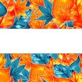 Autumn Background Border Abstrakt konstnärlig nedgångram med ett ställe för text Royaltyfria Foton