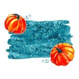 Autumn Background Border Abstrakt konstnärlig nedgångram med ett ställe för text Arkivbilder