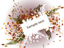 Autumn background with border for text Stock Photo
