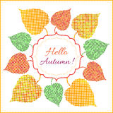 Autumn background with bright leaves Royalty Free Stock Image