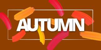 Autumn background with brush strokes. stock illustration