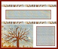 Autumn background card Stock Photos