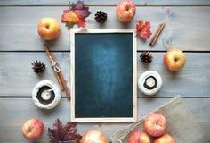 Autumn background chalkboard Stock Photography