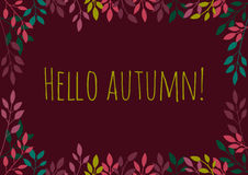 Autumn background. Autumn background with colorful leaves Royalty Free Stock Photos