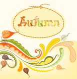 Autumn Background Design. Illustration of autumn design elements Stock Photo
