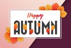 Autumn Background Design heureux Illustration de Vecteur
