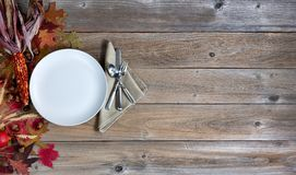 Autumn background with dinnerware setting for Thanksgiving holid Stock Images