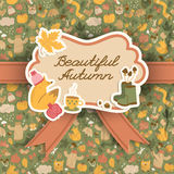 Autumn background. Doodle style Royalty Free Stock Photography