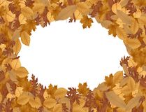 Autumn background with dried leaves. Illustration of Autumn background with dried leaves Stock Photography
