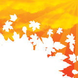 Autumn background with falling Royalty Free Stock Photography