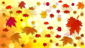 Autumn background with falling leaves. Vector art illustration Royalty Free Stock Image
