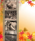 Autumn background with a film Stock Photos