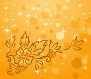Autumn background with floral branch Stock Image