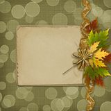 Autumn background with foliage Royalty Free Stock Images