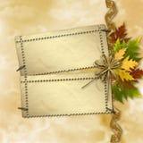 Autumn background with foliage Royalty Free Stock Photos