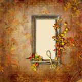 Autumn background with frame Stock Images