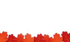 Autumn background. Frame of vector oak leaves.  Stock Images