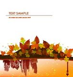 Autumn background Golden city. Autumn abctract background with modern arkhitecture Royalty Free Stock Image