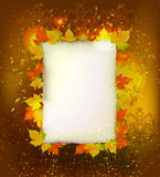 Autumn background Golden heart. Autumn abctract background with heart Royalty Free Stock Photography