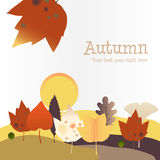 Autumn background with Harvest Moon Royalty Free Stock Photo