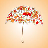 Autumn background. isolated art umbrella. stock  illustra Royalty Free Stock Image