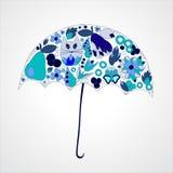 Autumn background. isolated art umbrella. stock  illustra Stock Photography